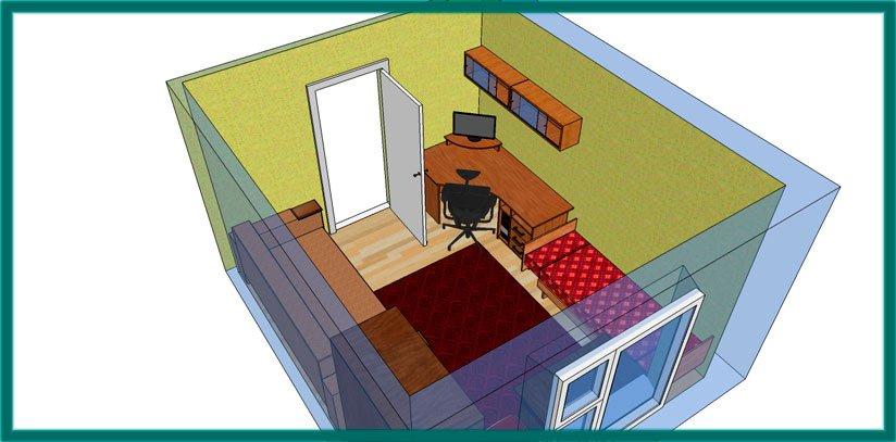 Чтобы качественно шумоизолировать комнату, рекомендуем создать конструкцию коробка в коробке